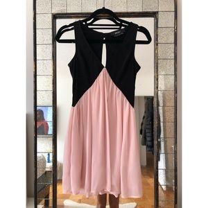 Nasty Gal Color Block Trapeze Dress
